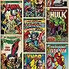Disney szuperhősök képregény mintás tapéta pókember, hulk, thor és a többiek