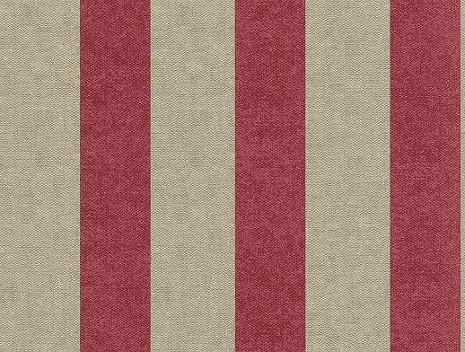 Drapp-pirosas bordó csíkos mintás tapéta, szövethatású alapon
