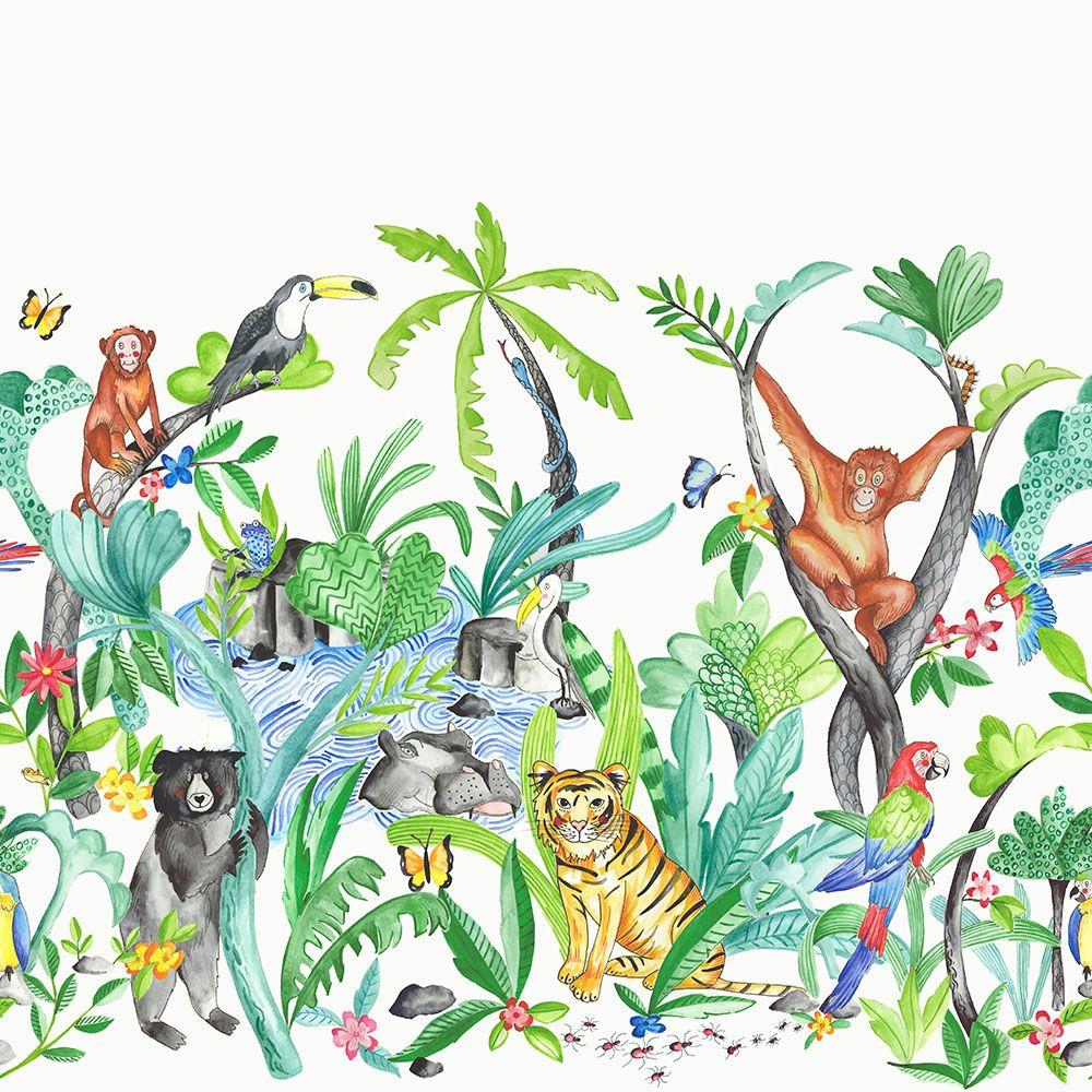 Dzsungel mánia gyerek bordűr