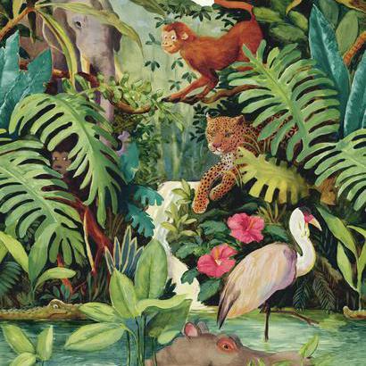 Dzsungel mintás bordűr