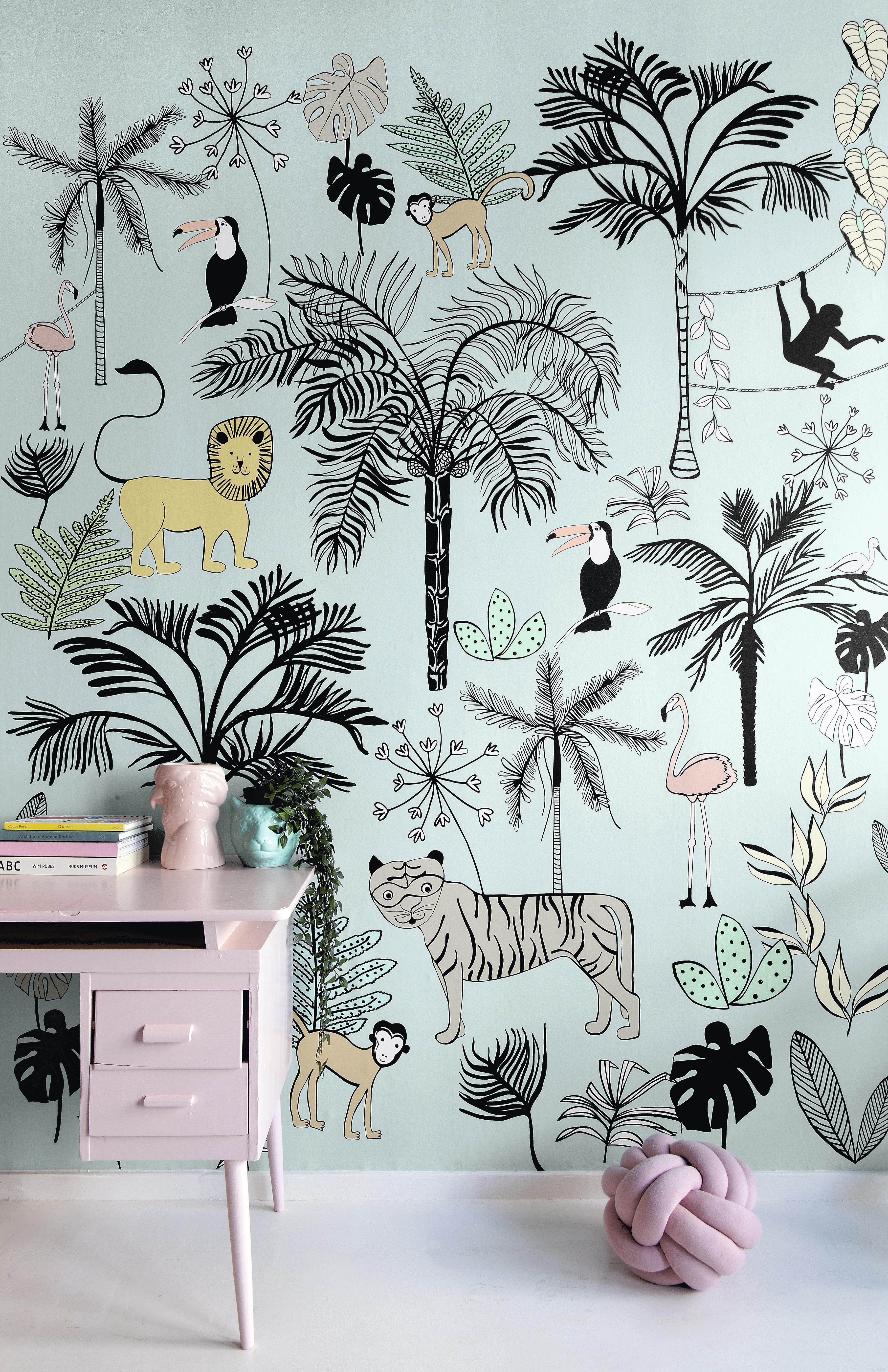 Dzsungel mintás fali poszter gyerekszobába