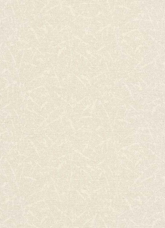 Egyszínű krém tapéta erezettel