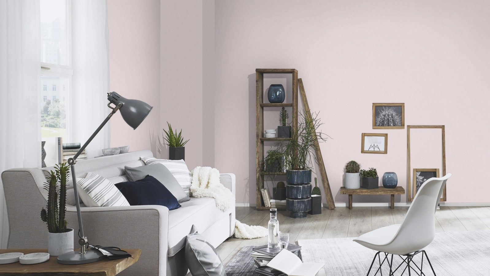 Egyszínű rózsaszín tapéta