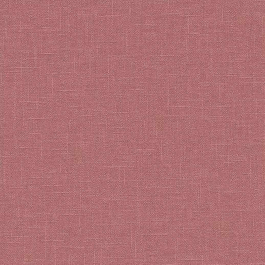 Egyszínű textil szőt hatású piros vlies tapéta habosított felülettel