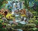 Egzotikus állat mintás gyerekszobai fali poszter