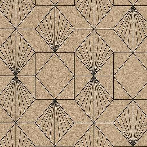 Eijffinger Geonature fekete-barna geometriai mintás tapéta