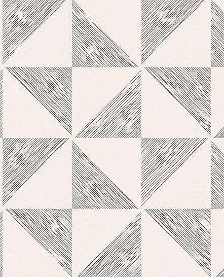 Eijffinger Geonature fekete-beige geometriai mintás tapéta