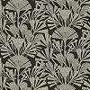 Eijffinger Geonature fekete-ezüst virágmintás tapéta