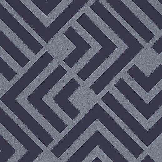 Eijffinger Geonature kék geometriai mintás tapéta