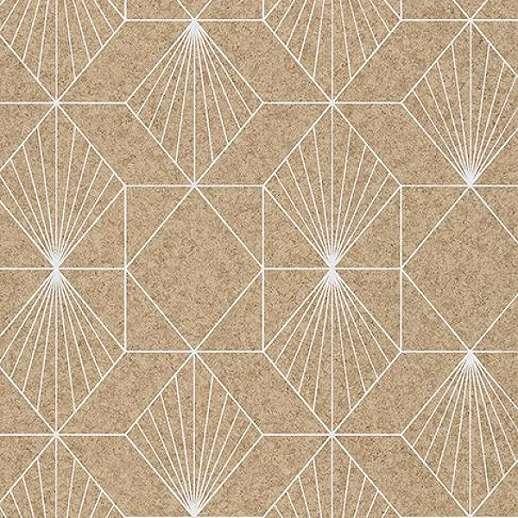 Eijffinger Geonature naturális színű geometriai mintás tapéta