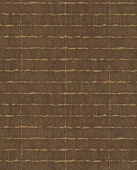 Eijffinger luxus tapéta barna négyzetrács mintával