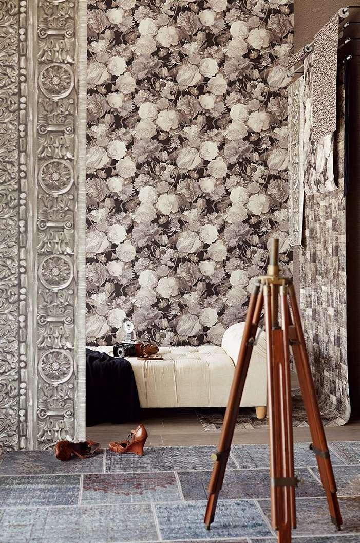 Eijffinger Masterpiece elefántcsont színű képkeret hatású fali poszter