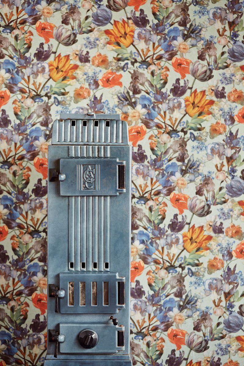 Eijffinger Masterpiece klasszikus stílusú romantikus színes virágmintás tapéta