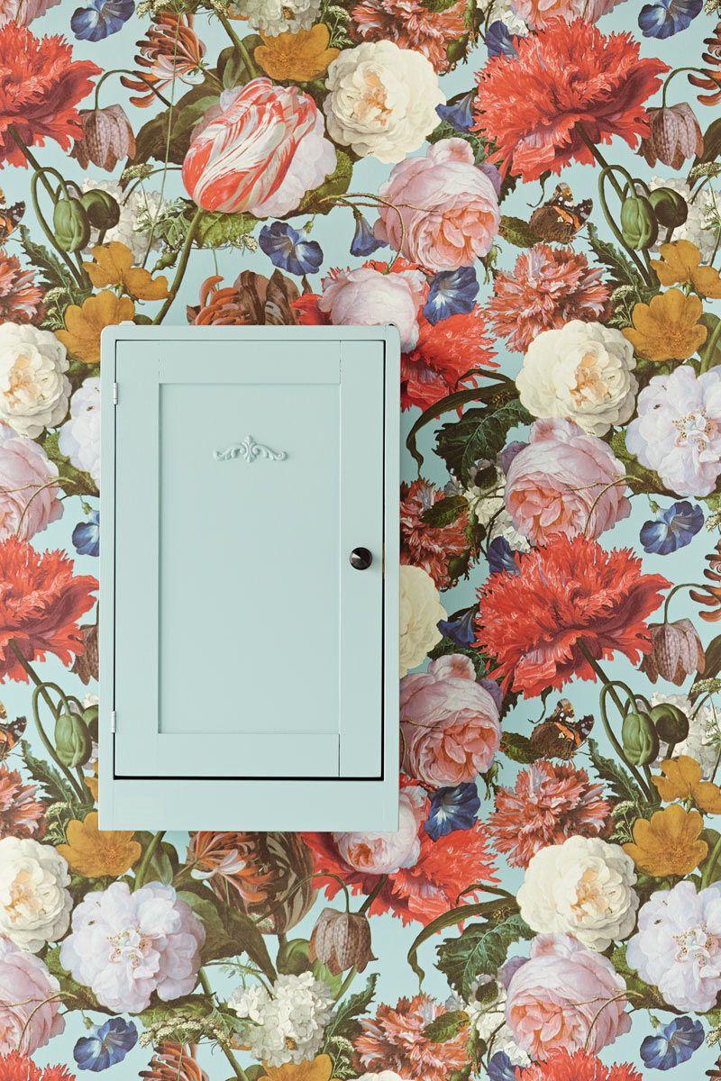 Eijffinger Masterpiece klasszikus stílusú romantikus virágmintás tapéta