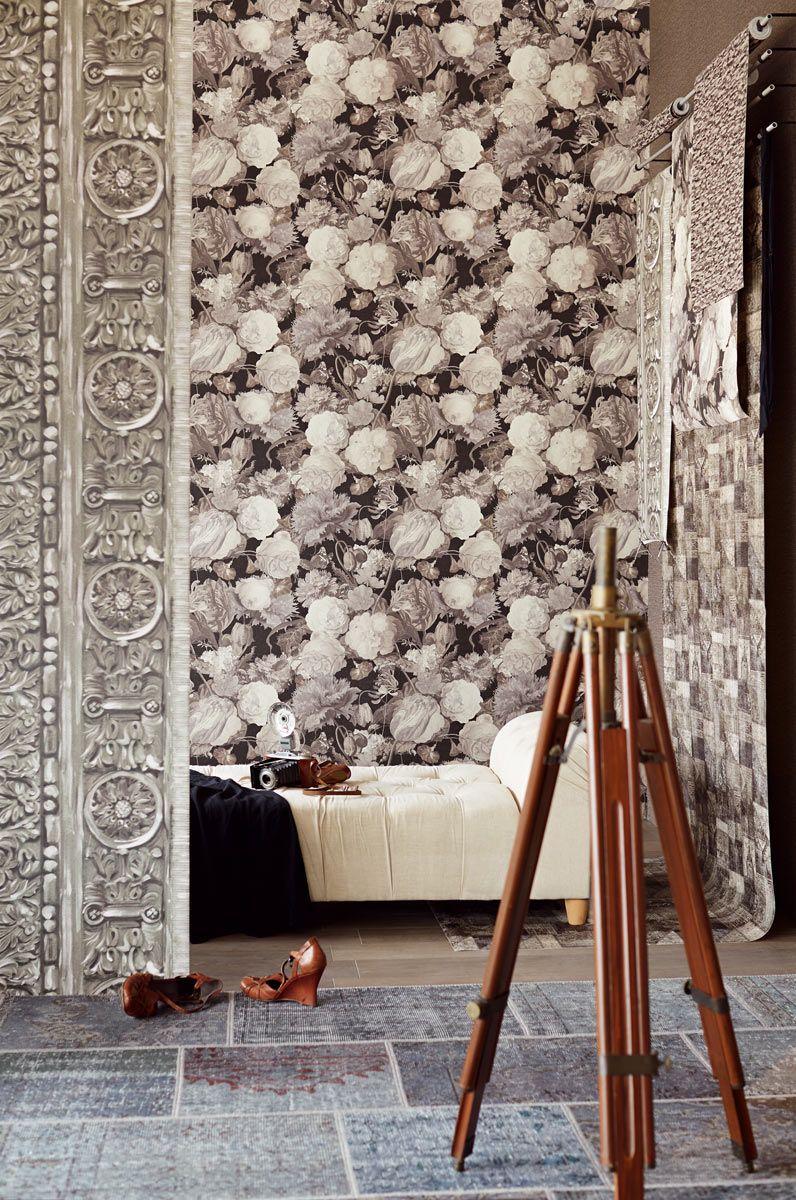 Eijffinger Masterpiece klasszikus stílusú  virágmintás tapéta
