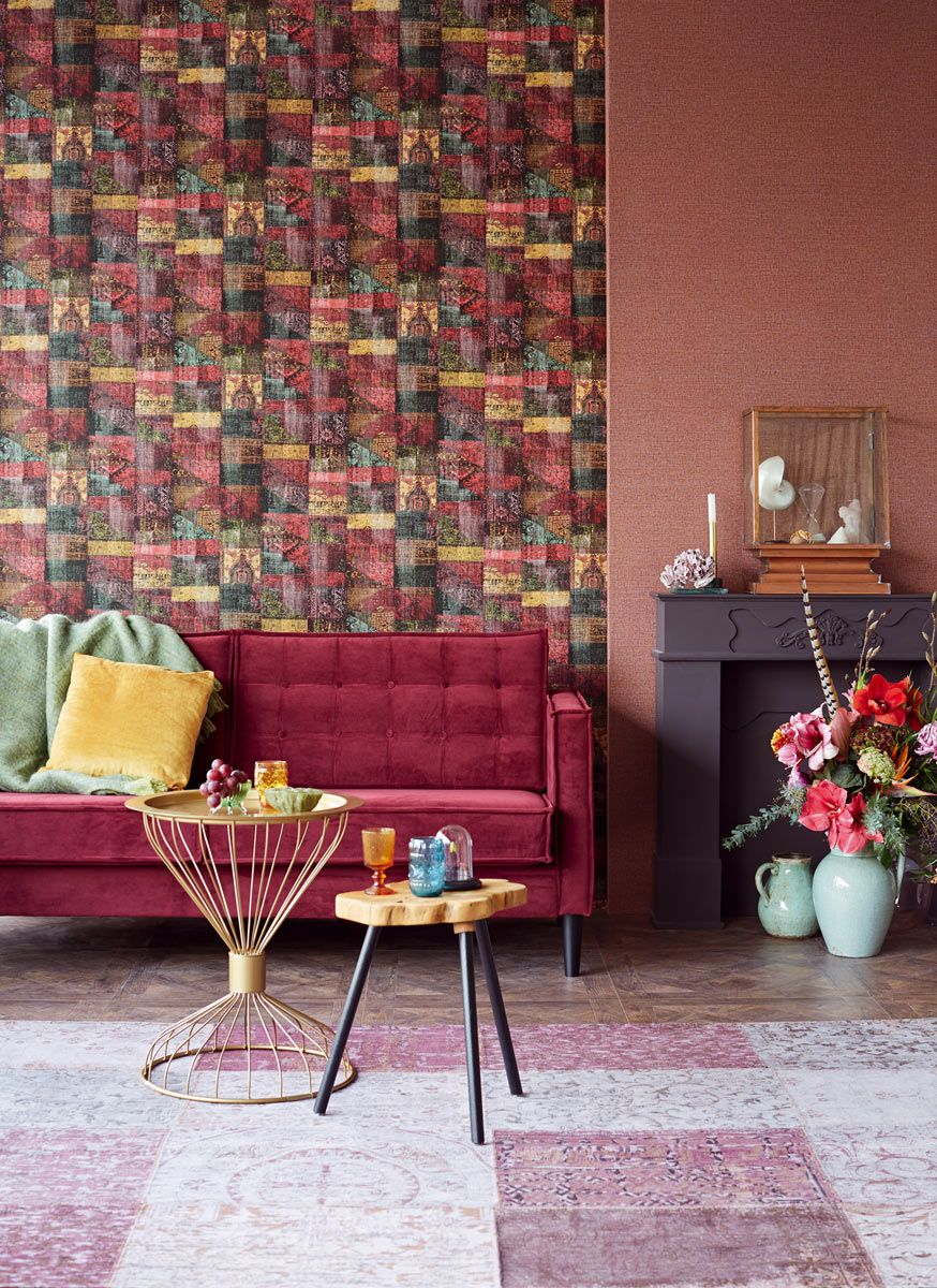 Eijffinger Masterpiece színes modern orientális mintás tapéta