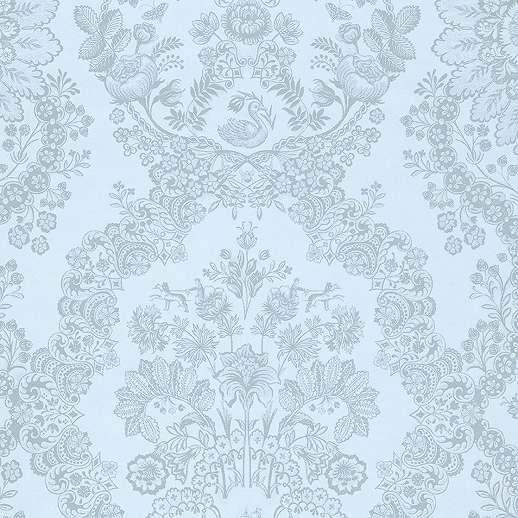 Eijffinger Pip kék barokk mintás orientális hatású tapéta