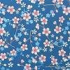 Eijffinger Pip kék színű harmonikus virágmintás tapéta