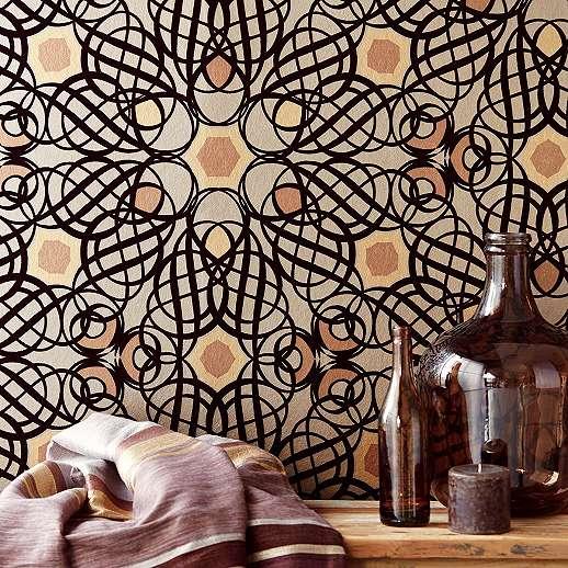 Eijjfinger Yasmin arany-barna színű orientális stílusú tapéta