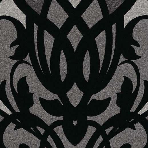 Eijjfinger Yasmin fekete-ezüstszürke színű orientális stílusú tapéta