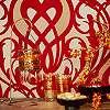Eijjfinger Yasmin piros színű orientális stílusú tapéta