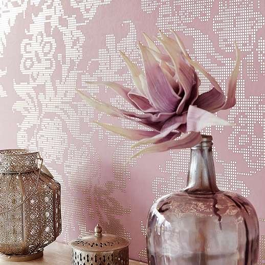 Eijjfinger Yasmin rózsaszín-arany színű virágmintás absztrakt stílusú tapéta