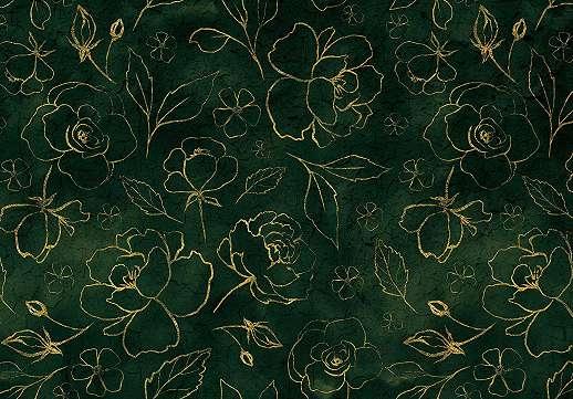 Elegáns virágmintás fali poszter