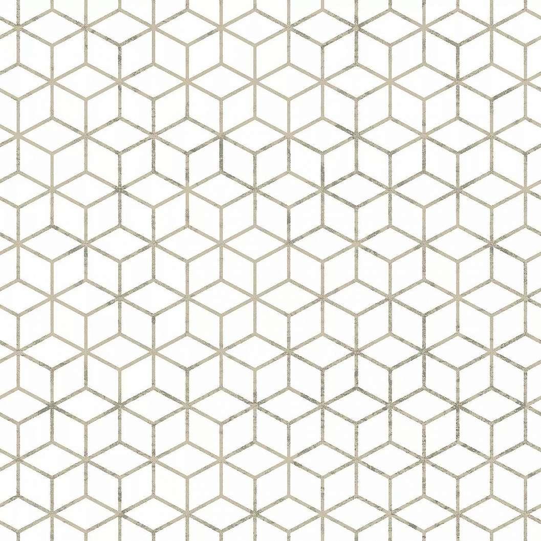 Exkluzív geometrikus mintás tapéta arany geometrikus mintával