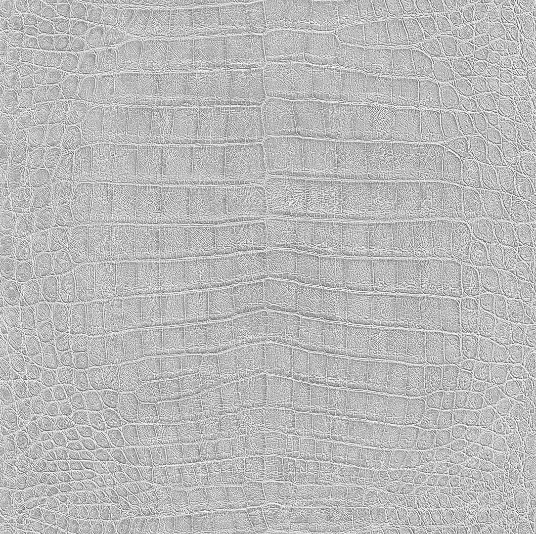 Ezüst színű krokodillbőr hatású tapéta