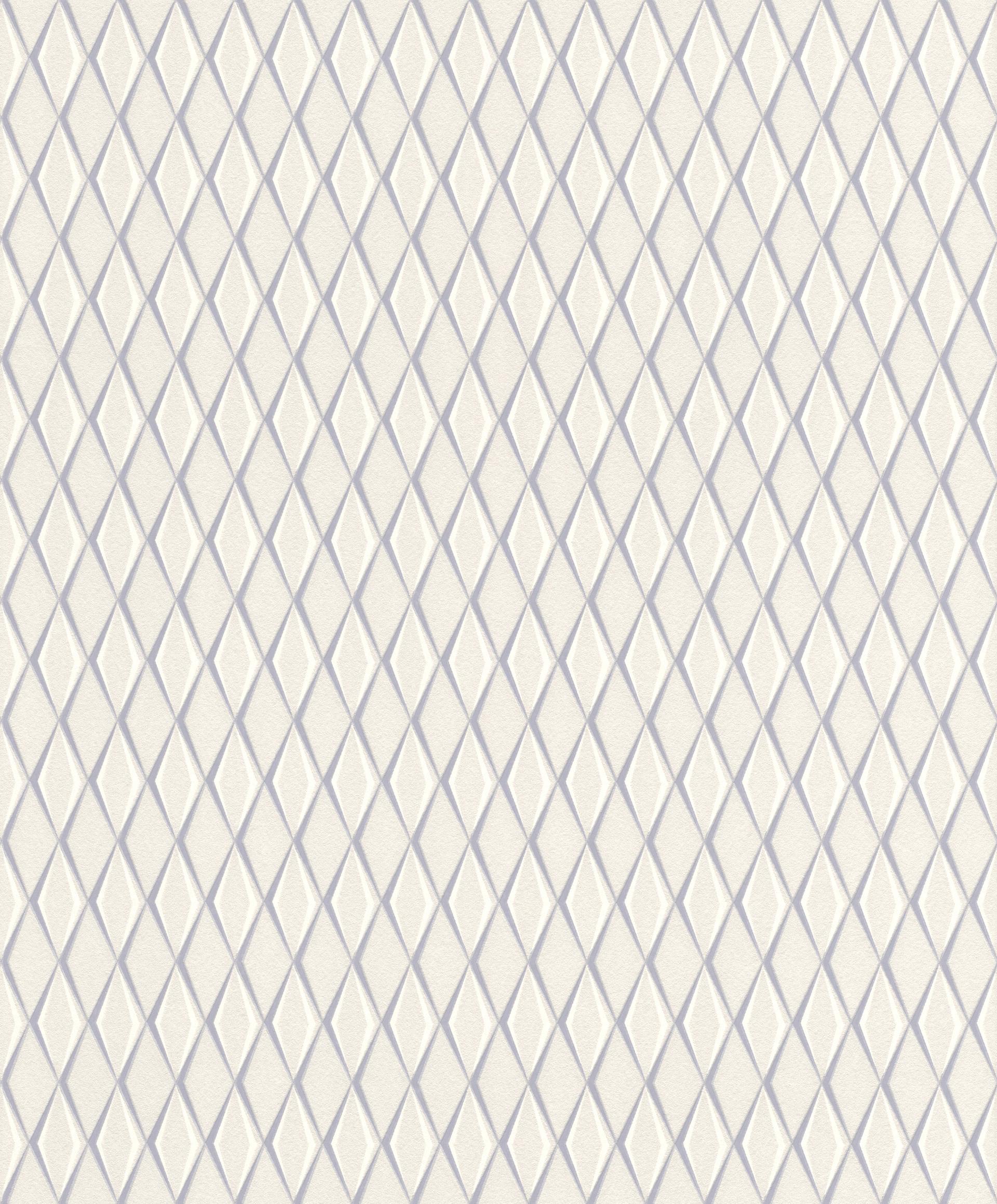 Ezüst, szürke modern geometriai mintás tapéta
