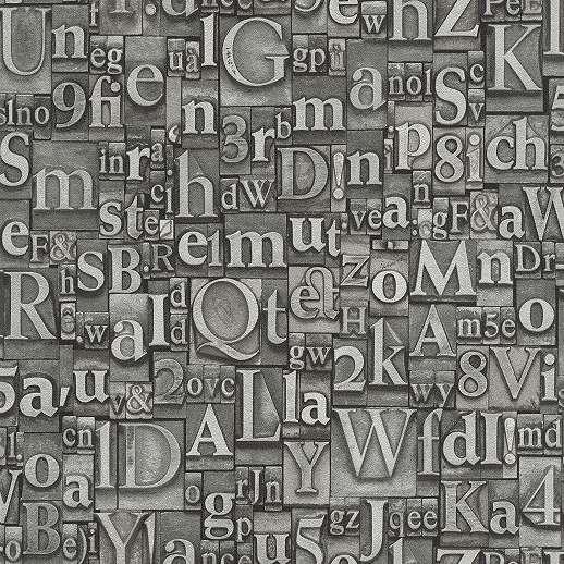 Ezüst, szürke számos betűs tapéta