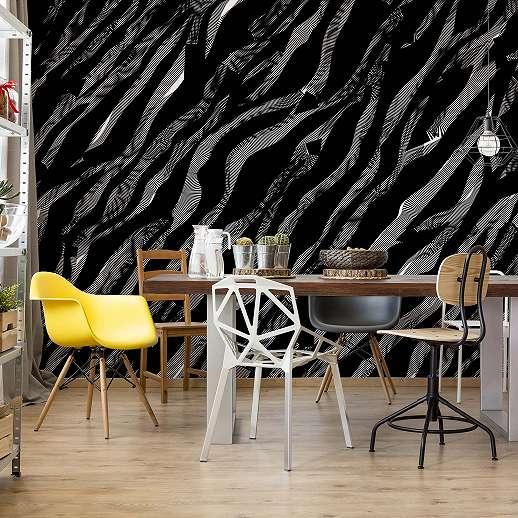 Fali poszter 3D absztrakt fekete texturával