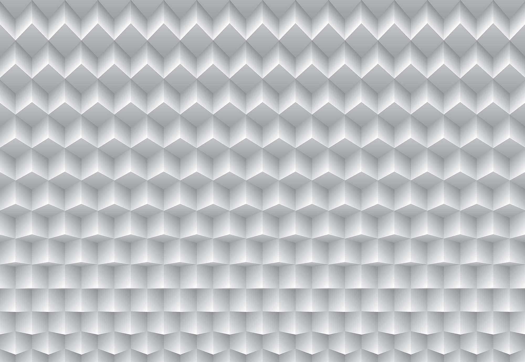 Fali poszter 3D hatású modern szürke geometriai mintás