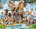 Fali poszter a Safari állataival gyerekszobába