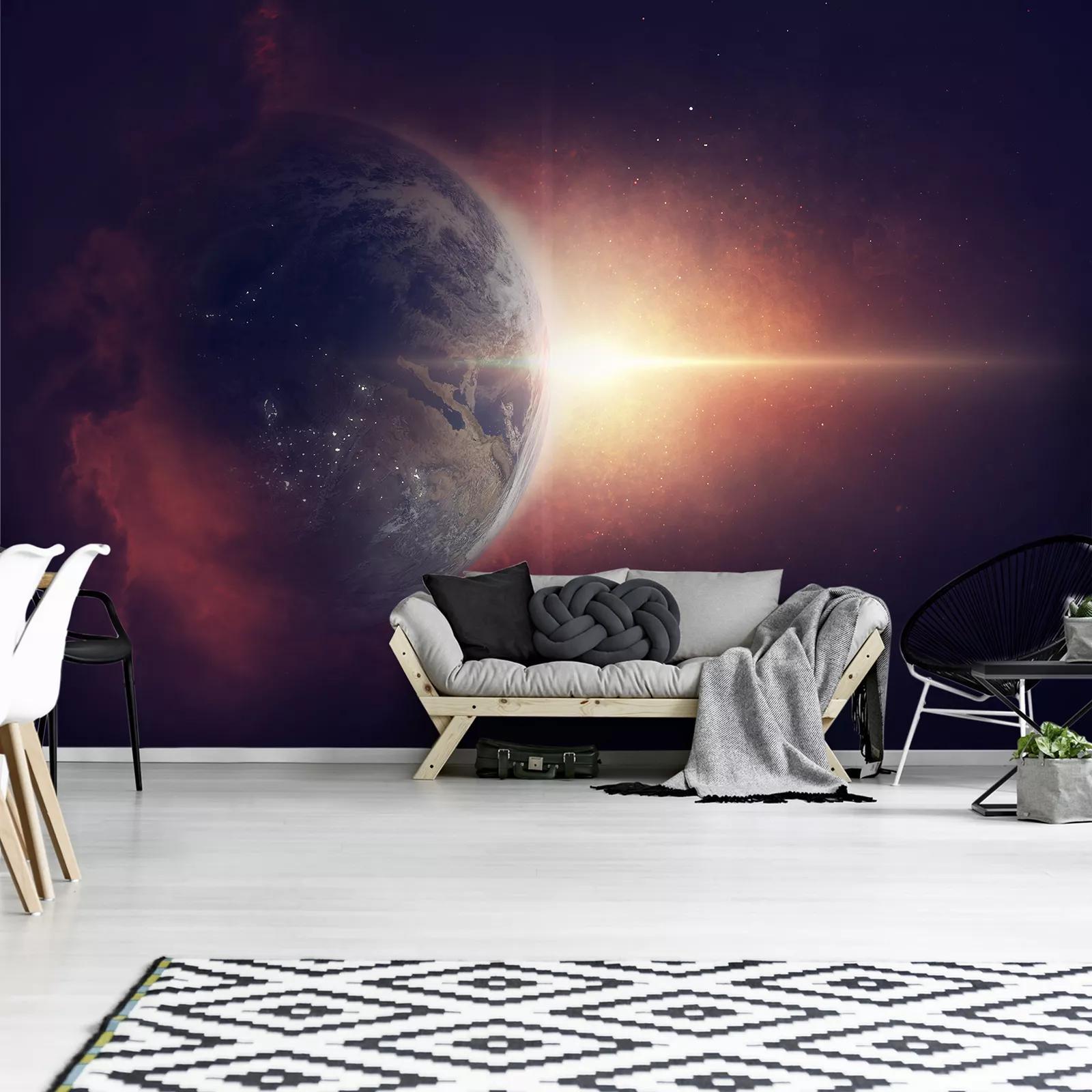 Fali poszter a világegyetemmel egy fantáziarajzon