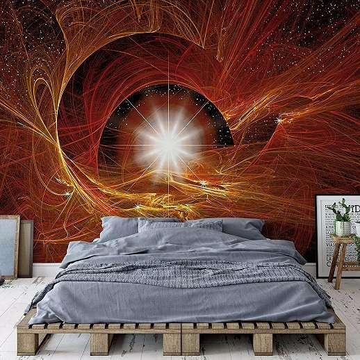 Fali poszter absztrakt mintával univerzum a háttérben