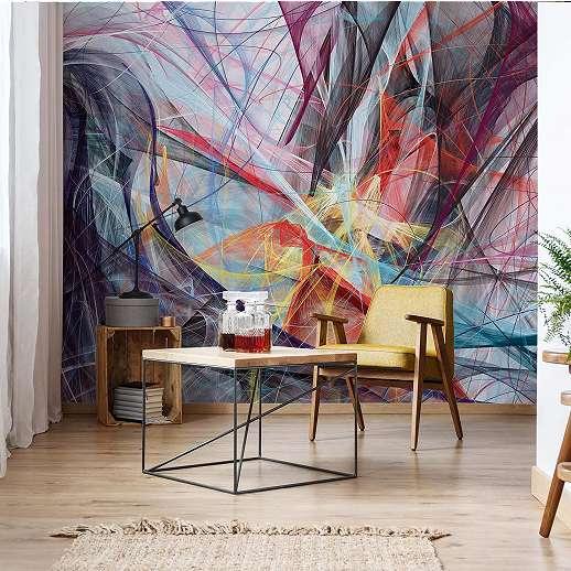 Fali poszter absztrakt művészi stílusban modern enteriörbe