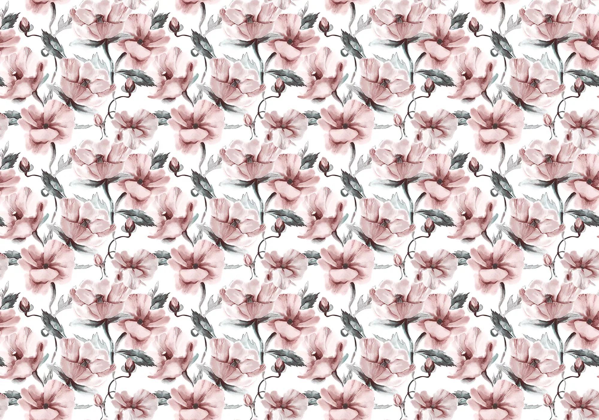 Fali poszter akvarell virágmintával pasztell színvilágban