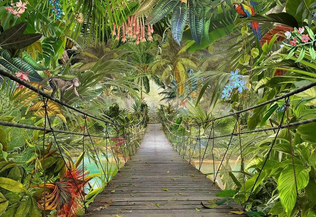Fali poszter dzsungel mintával