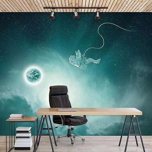 Fali poszter egy asztronautával a világűrben