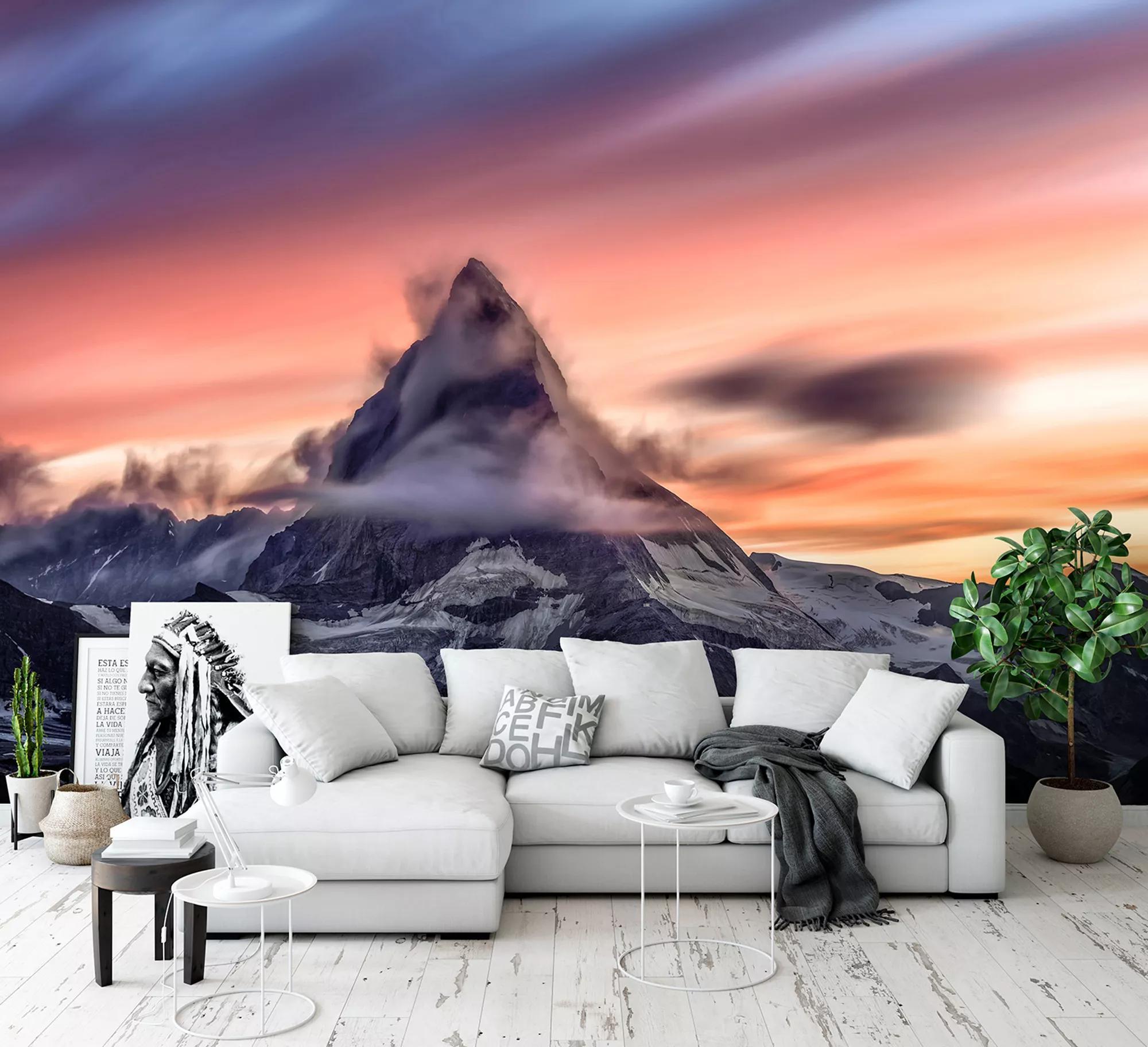 Fali poszter egy fantasztikus hegy panorámájával