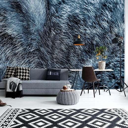 Fali poszter farkas szőr mintával