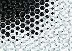 Fali poszter fekete-fehér színvilágban modern méhsejt mintával