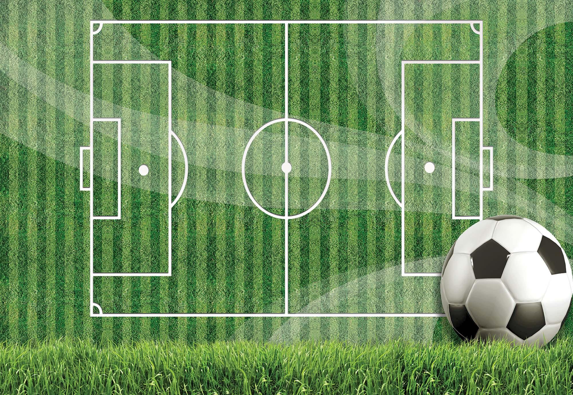 Fali poszter focipálya mintával