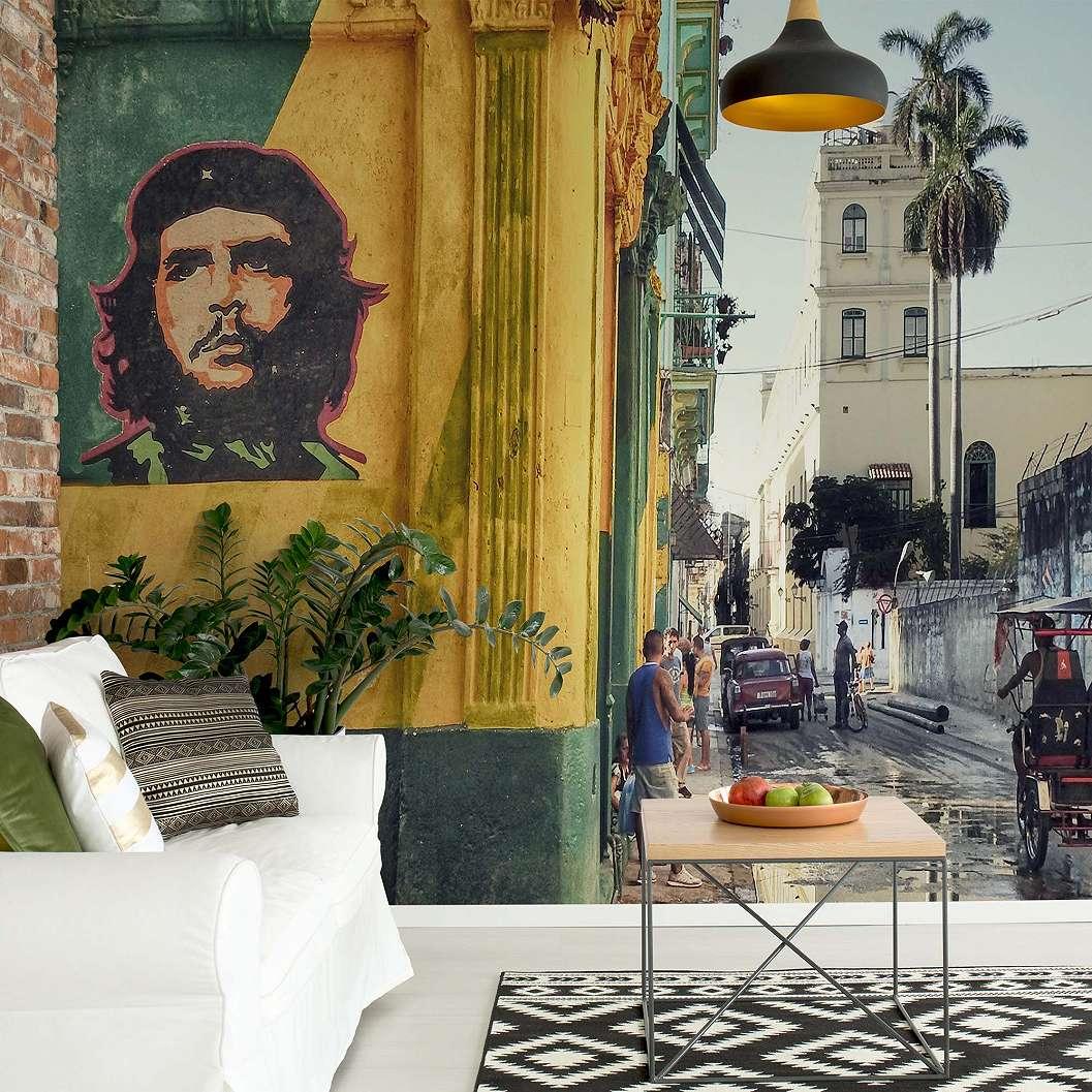 Fali poszter graffiti Havanna utcáján