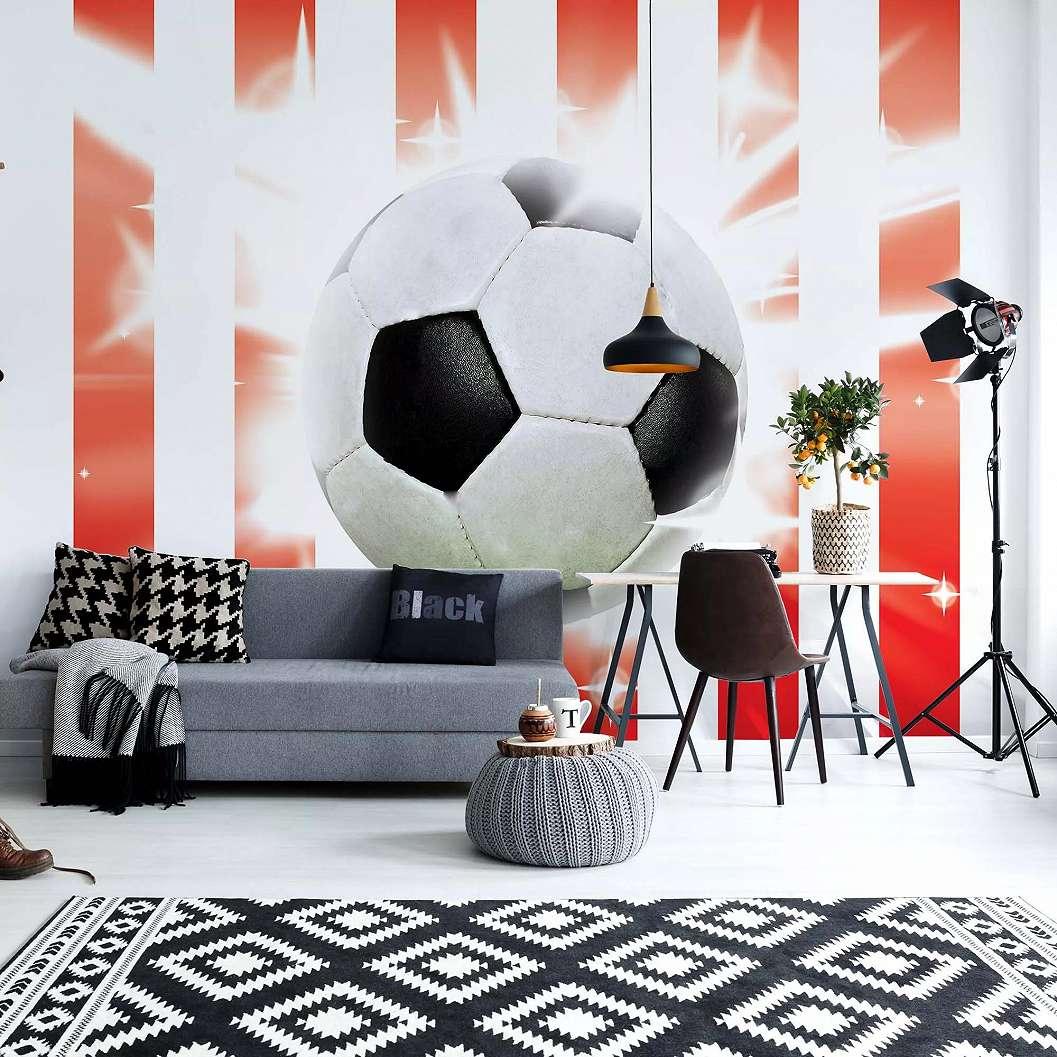 Fali poszter gyerek szábába a foci szerelmeseinek óriás focilabda mintával