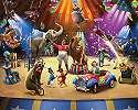 Fali poszter gyerekszobába cirkuszi állatokkal
