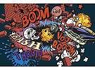 Fali poszter gyerekszobába Graffiti stílusban