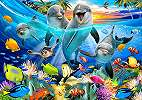 Fali poszter gyerekszobába vicces tengeri állatok mintával