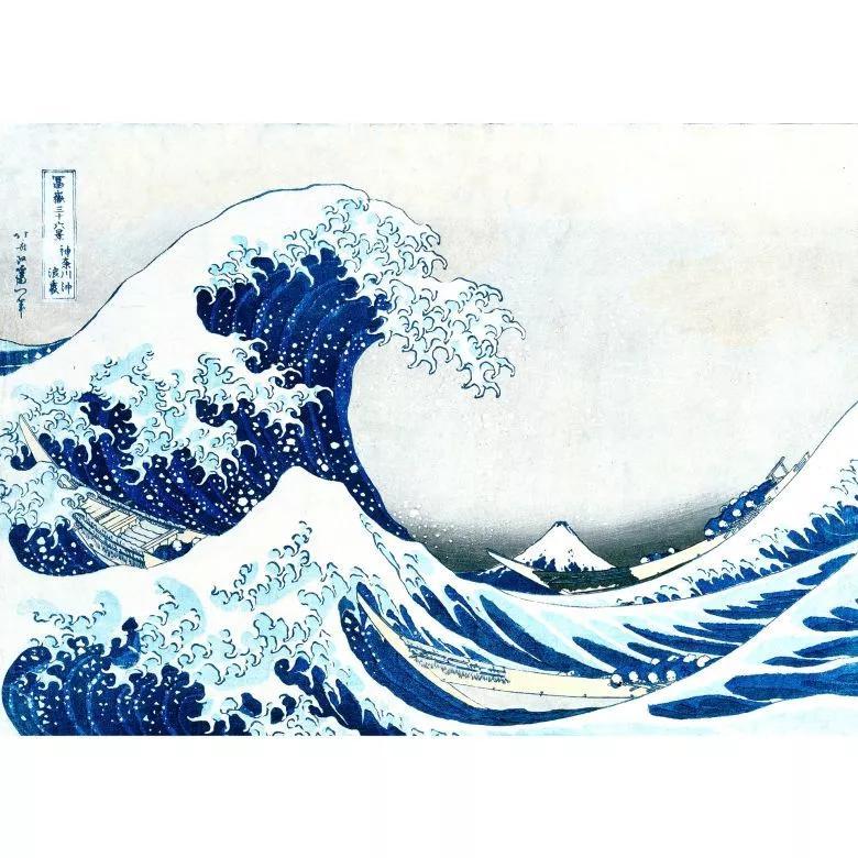 Fali poszter Japán stílusban hullámzó tenger mintával